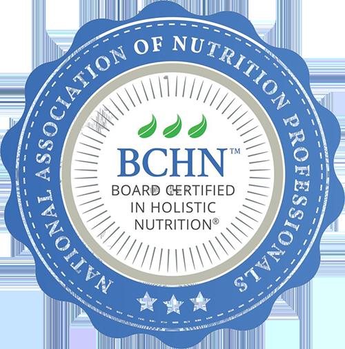 Board Certified in Holistic Nutrition®